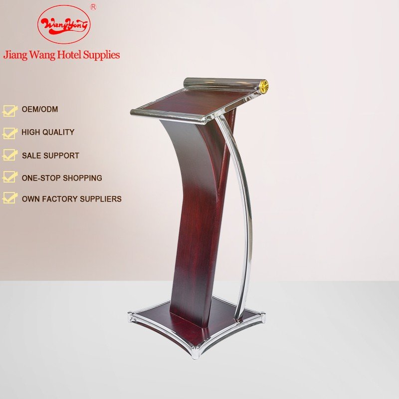 MDF with Cherry Finish Wooden Rostrum Stand lecture rostrum podium