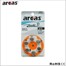 made in Germany;Hearing aid batteries-6Pk A13 zinc air battery