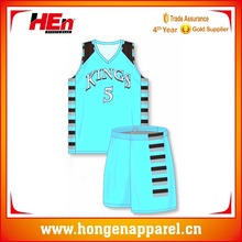 Pinstripe Basketball Wear, New Style Youth Basketball Uniform With Team Name Design