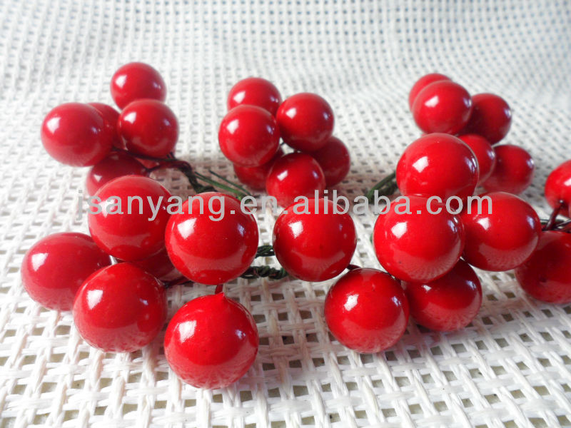 artificial Red round berries