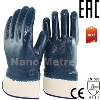 NMSAFETY Heavy duty working gloves chemical resistance nitrile gloves oilfield impact gloves