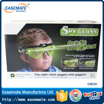 Spy glass see in the dark 25 feet with night vision lights