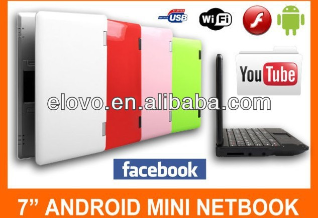 7 inch mini english netbook notebook laptop with 4gb ram ddr2