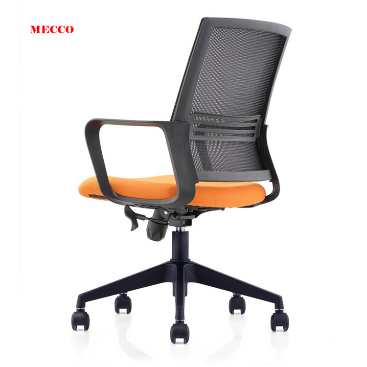 Middle Back Office Chair Height Adjustable Mesh Chair For Office With Armrest
