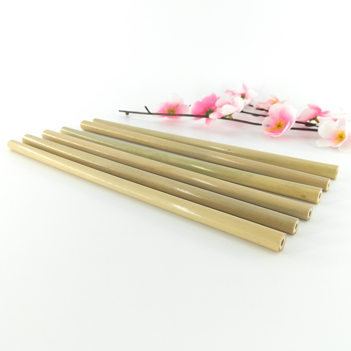Natural Eco Friendly Reusable Straw Fiber Bamboo Straw