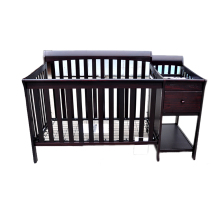 2018 low price baby furniture Paris crib and changer baby cots