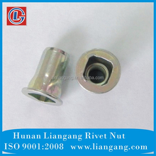 AISI 1008 steel square rivet nut