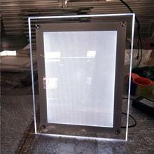 LED menu light box display illuminated acrylic stand light box with advertising poster
