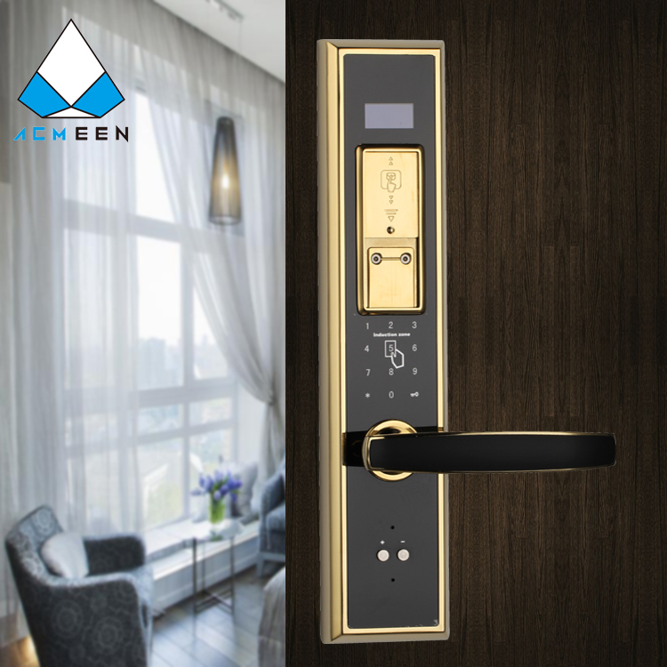 electronic fingerprint password and card door lock
