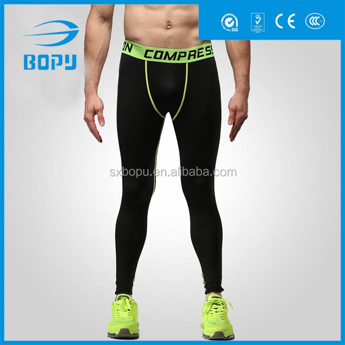 hot selling mens gym wear compression long running tights