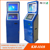 Dual touch monitor automatic ticket or sim card vending machine with cash acceptor