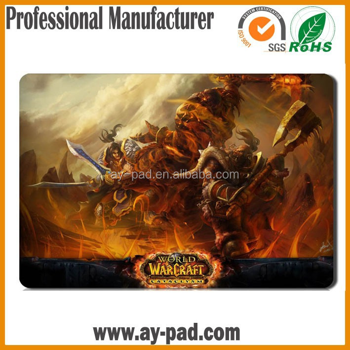 AY Blizzard Entertainment World Of Warcraft Play Mat Trading Card Heroes of Azeroth Sublimation Rubber Playmat Card Playmat