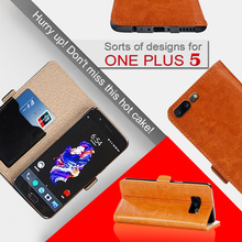 Wholesale price wallet style flip pu leather case for one plus 5 phone case credit card slot cover for one plus 5