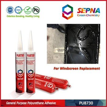 high adhesive all car windscreen glass repair pu sealant low volatile