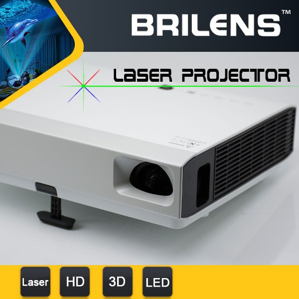 720P portable digital LED DLP laser video projector 5000 lumens for Christmas