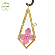 Diamond Shape Square Triangle Rectangle Round Elephant Glass Hinge Locket Pendant copper brass photo picture frame necklace