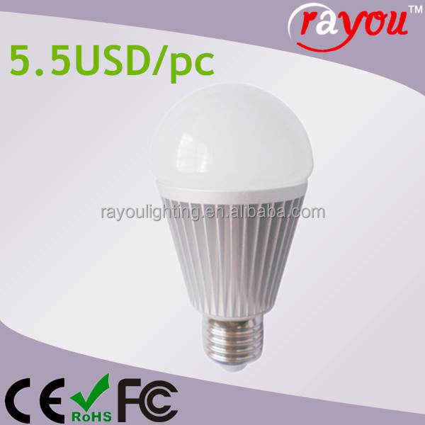 Hot selling smd 5030 led bulb e27, Low China led bulb 5w price, daylight led dimmable bulb light E27