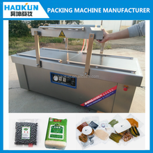 Professional floor type double chambers automatic food vacuum packaging machine
