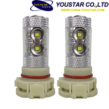 High Power LED Fog Light 60W H11 PS24W Driving Projector Bulb 12V voltage 60W Motorcycle Fog Light