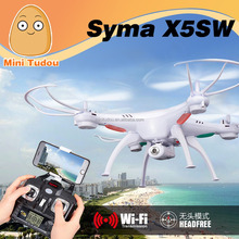 Minitudou Wholesale RC FPV Quadcopter Syma X5SW 2.4G 4CH 6-Axis With 2.0MP HD Camera RC Real Vedio Wifi Drone