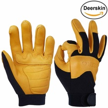 New fasion Motorcycle deerskin leather gloves from china