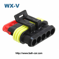 accessories cars 5 pin TE female wire harness connector waterproof 282089-1