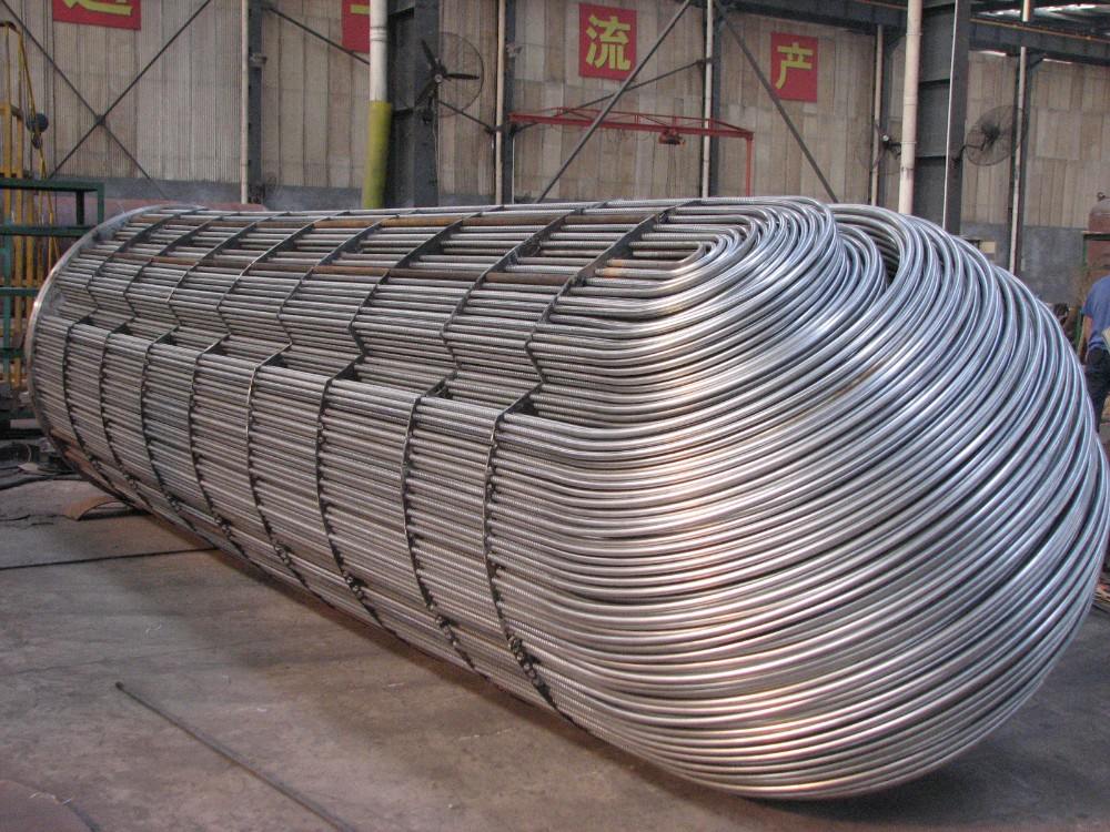 industrial stainless steel U tube/shell and tube heat exchanger