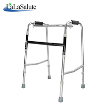 Stainless steel height adjustable walker anti-skid foldable elderly walking aid