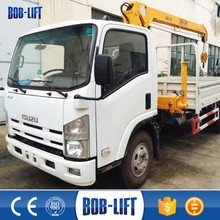 3 Ton China Hydraulic Mobile Small Mini Used/New Knuckle Folding Boom Lorry Truck Mounted Crane Manufacturer for Sale SQ3.2SA2