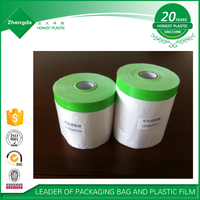 high quality auto paint protective plastic masking film in low price