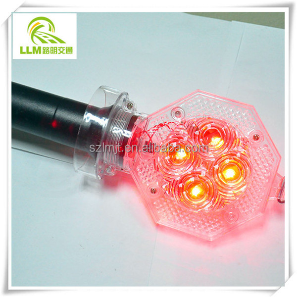 Road Traffic Safety Blinking Barricade Warning Light Solar Safety Light