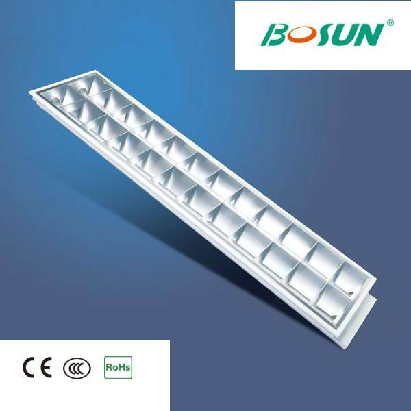 2x36W T8 Industrial Fluorescent Light Fixture with Electronic Ballast