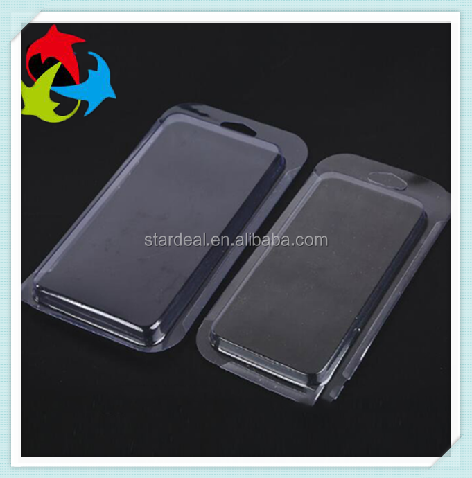customized clear pvc blister cell phone case packaging