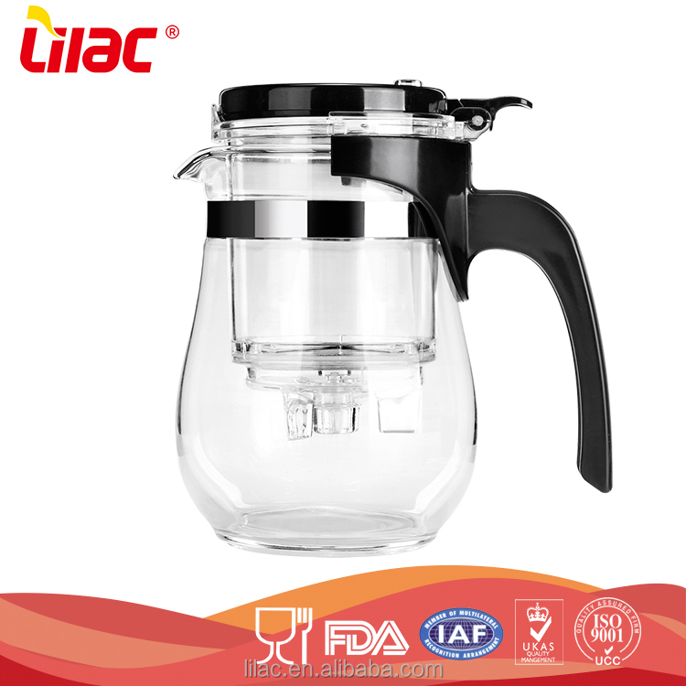 factory free sample OEM&ODM hand-blown high temperature resistant coffee pyrex glass tea pot