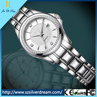 Hot sales Japan automatic movement stainless steel lady watch,custom stainless steel watch