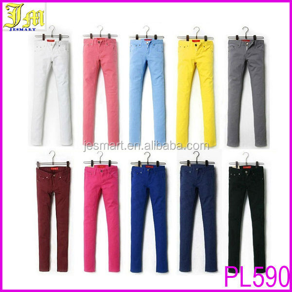 2014 New Women's Casual Candy Neon Color Trousers Tight Leggings Ladies Stretch Pencil Pants Slim Fit Cotton Jeans
