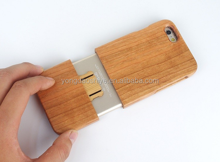 Nice quality mobile back cover blank wood case for iphone 6 6s and plus