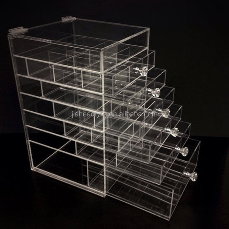 Large Acrylic Makeup Organizer Source · Import Material Clear Acrylic  Plastic Makeup Organizer With 7 Part 53
