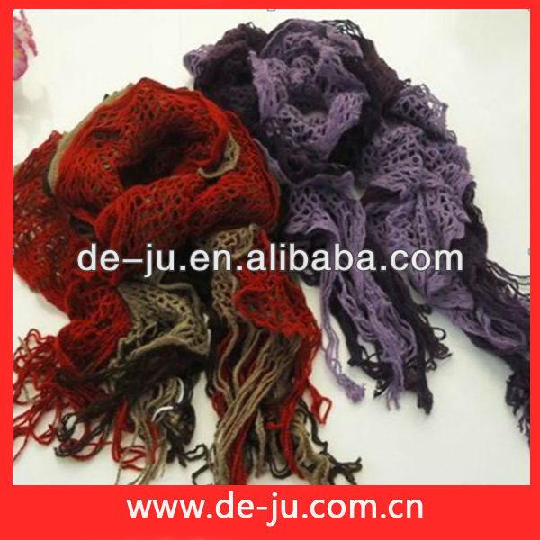 Yarn Weaved Cold Day Short Scarves For Women