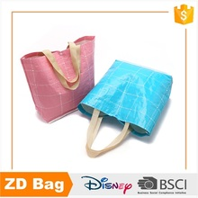 wholesale colored recycled printed pp big woven polypropylene shopping bags