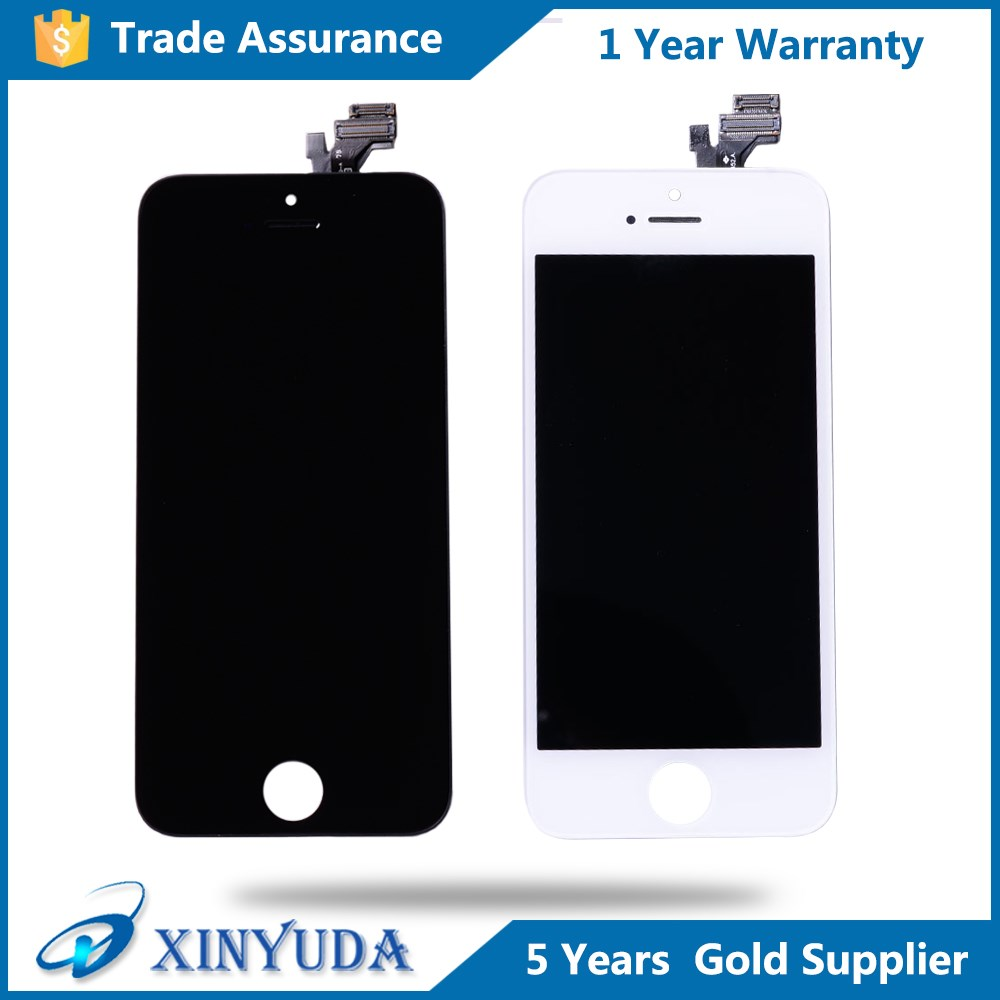 100% test good china supplier mobile phone display LCD screen digitizer assembly for iPhone 5
