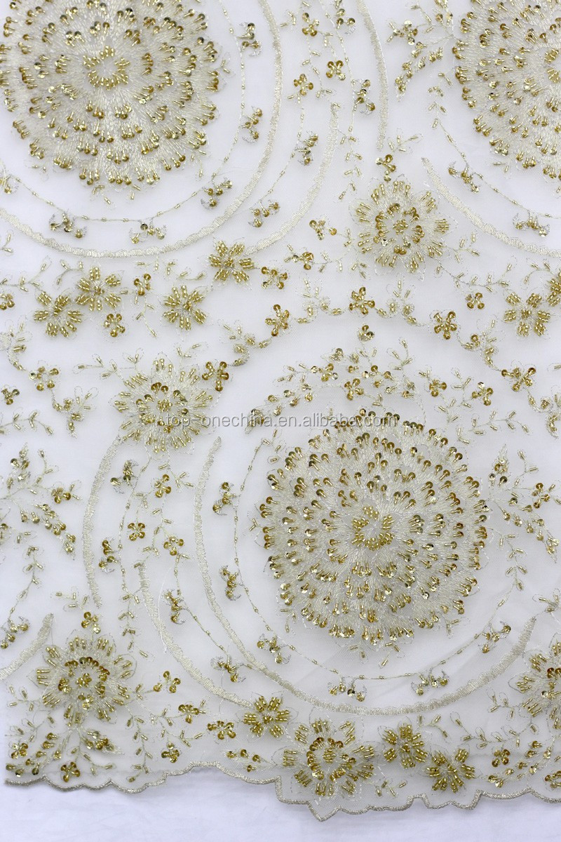 Wholesale handwork embroidery french lace fabric