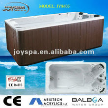 JOYSPA Corner Drain Location and Massage Function swimming spa
