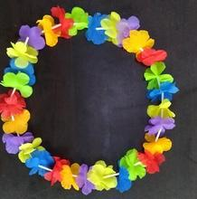 factory cheap price Hawaii leis Colorful Hawaii silk flower Leis