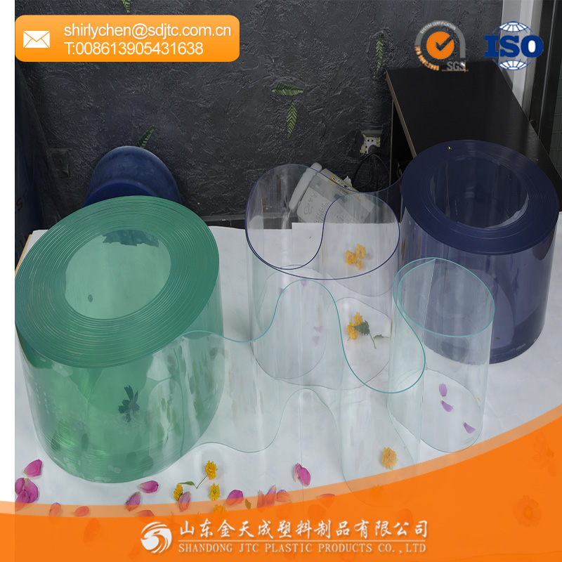 Transparent pvc strip curtain roll colourful curtain