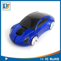 Hottest gift and promotion 2.4G wireless car mouse Customized logo Wireless Computer Car Shape Mouse With Blue Headlights