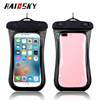 Haissky 5.5INCH universal PVC IPX8 slim waterproof cell phone bag for iphone 7 mobile case