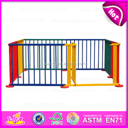 Wholesale new design baby playard safety wooden picket baby fence W08H010-A3