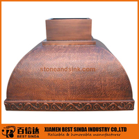 CE approved island copper hood for kitchen
