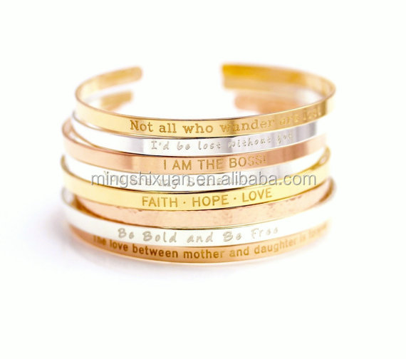 hot selling Christmas gift jewelry letter cuff bracelet,Engraved custom bracelets, Dream, Faith, Love,Hope bracelet